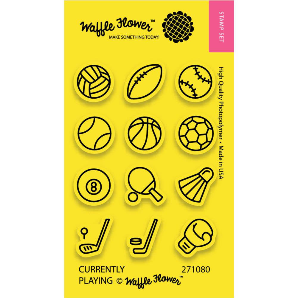 Waffle Flower CURRENTLY PLAYING Sports Planner Stamps