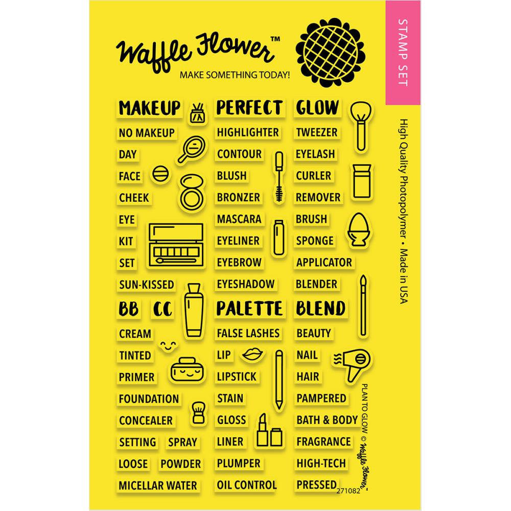 Waffle Flower PLAN TO GLOW Gardening Clear Planner Stamps