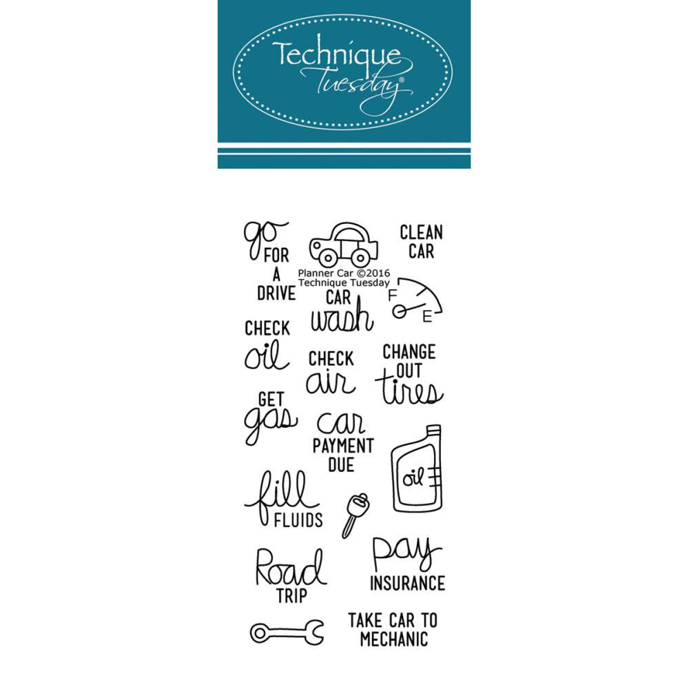 CAR Care Clear Planner Clear Stamps by Technique Tuesday