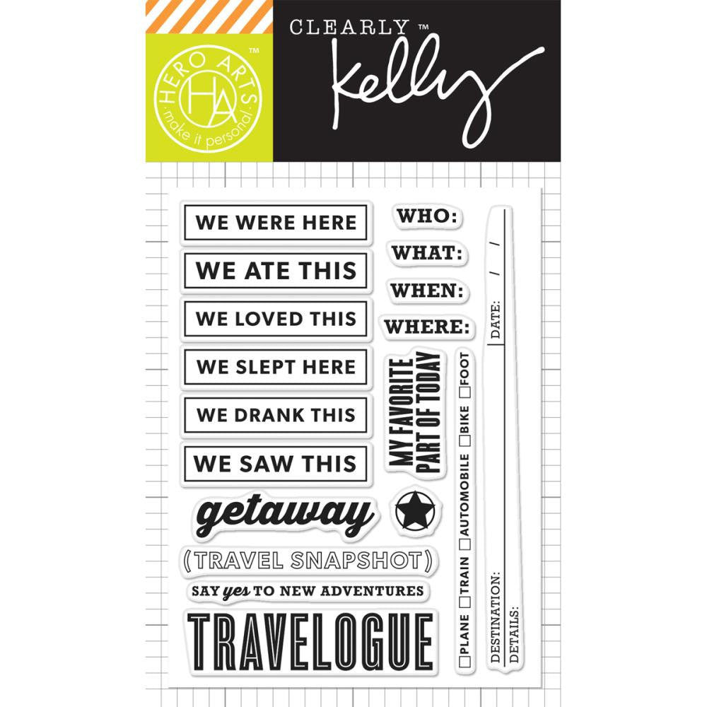 Kelly Purkey New Adventures Travel Planner Stamps