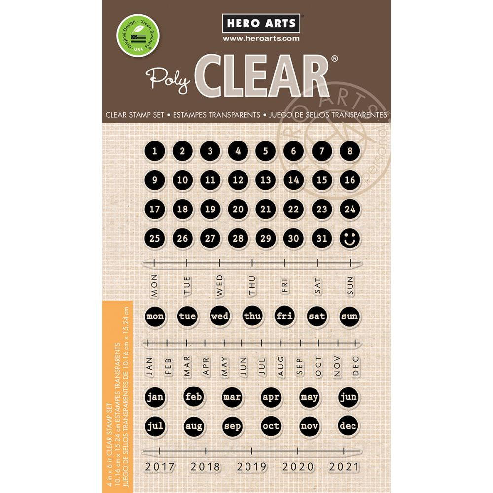 Hero Arts Typewriter Keys CALENDAR Planner Stamps