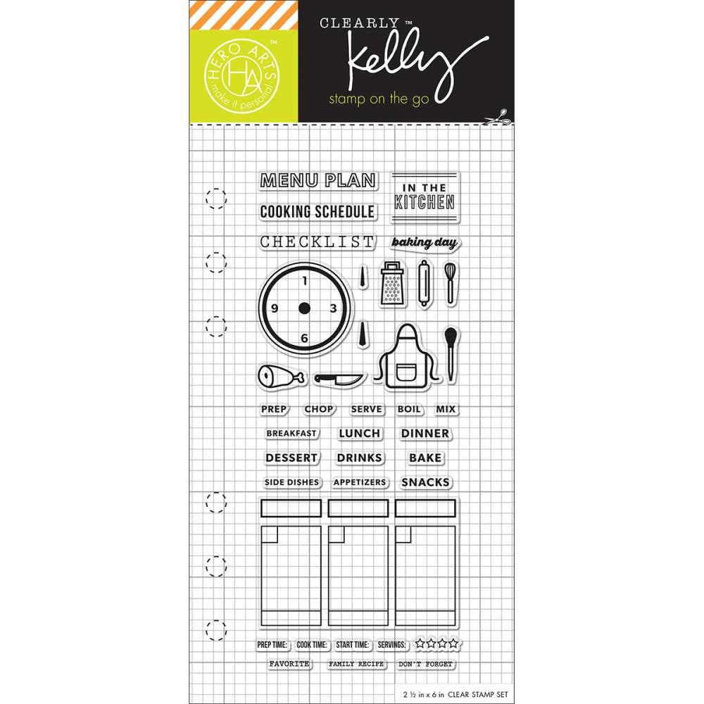 COOKING Kelly Purkey Clear Planner Stamps