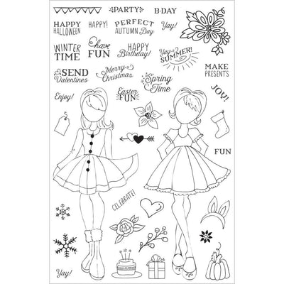 HOLIDAY BLISS Julie Nutting Prima Planner Clear Stamps