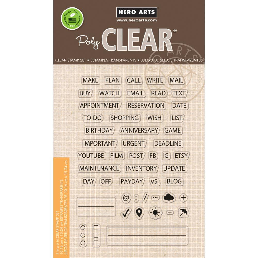 Hero Arts PLAN Essentials Planner Stamps