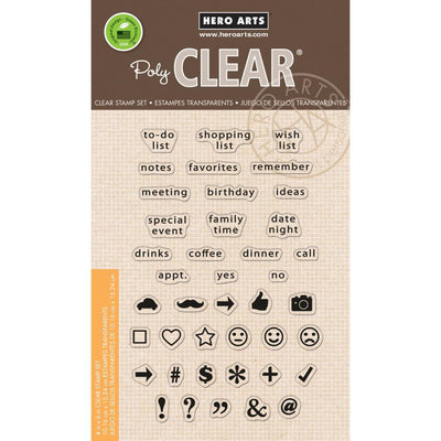 Hero Arts TO DO LIST Clear Planner Stamps