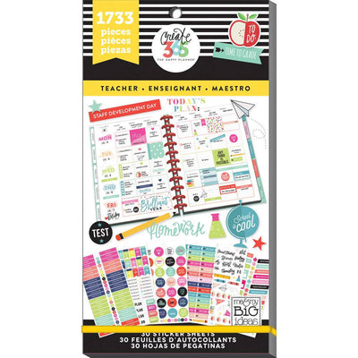 1,733 TEACHER MAMBI Big Happy Planner Stickers Value Sticker Book