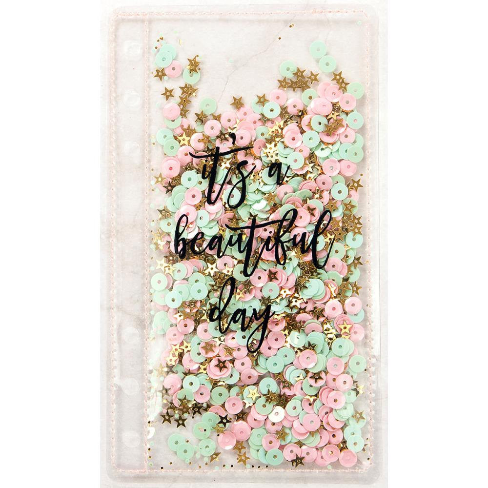 "Sequin PLANNER SHAKER Bookmark ""It's a beautiful day"" by Frank Garcia & Prima"