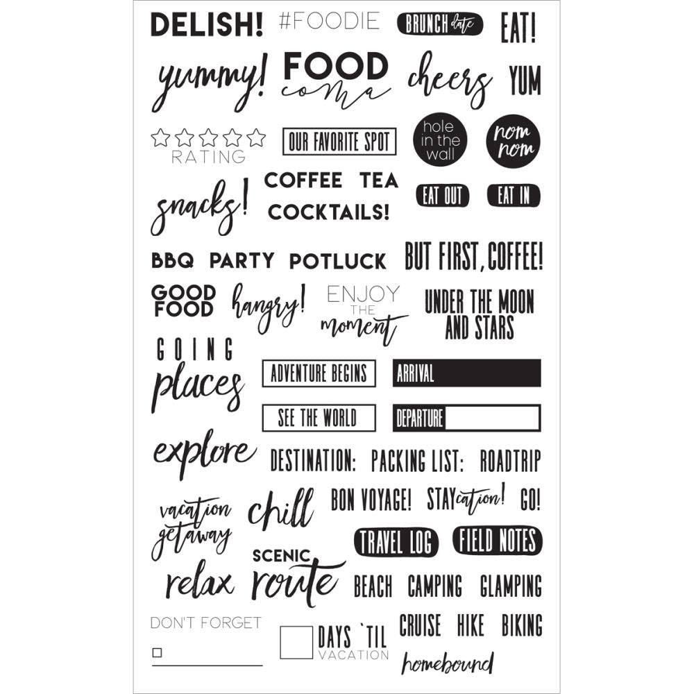 Frank Garcia FOOD & TRAVEL Clear Planner Stamps by Prima