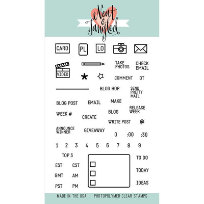 BLOG PLANNER STAMPS by Neat & Tangled