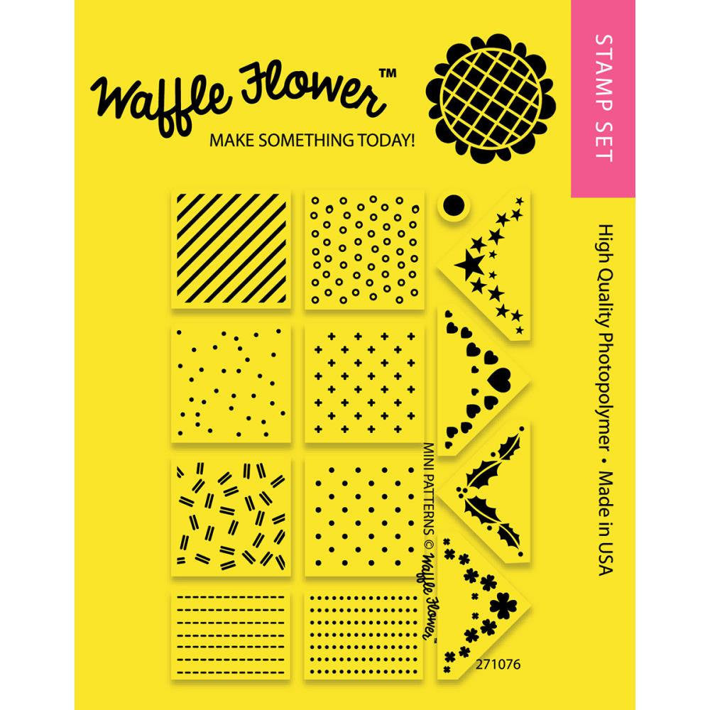 Waffle Flower Mini PATTERNS Background Planner Stamps