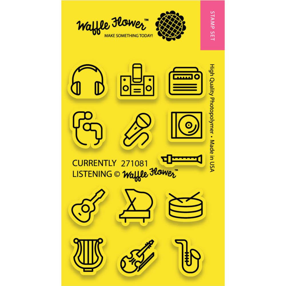 Waffle Flower CURRENTLY LISTENING Music Clear Planner Stamps