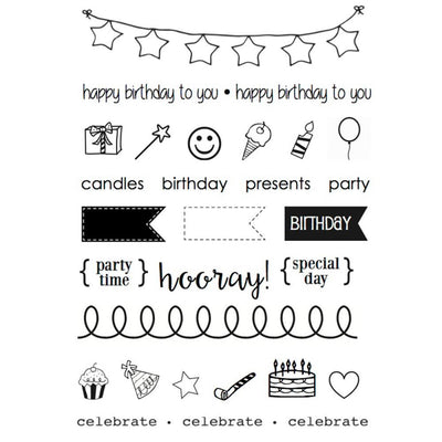 SRM Press Birthday Planner Stamp Set