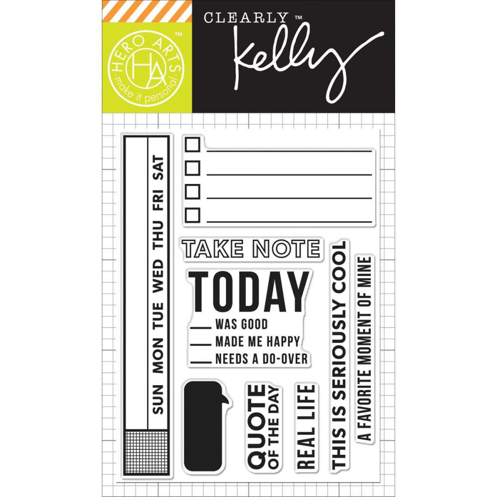 Kelly Purkey Take Note Clear Planner Stamps