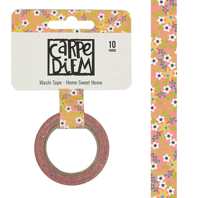 Domestic Bliss HOME SWEET HOME Carpe Diem Washi Tape, 15mm x 10 yards