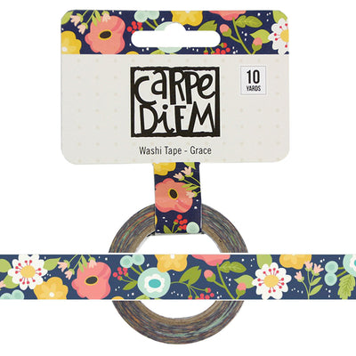 GRACE Floral Faith Carpe Diem Washi, 15mm x 10 yards