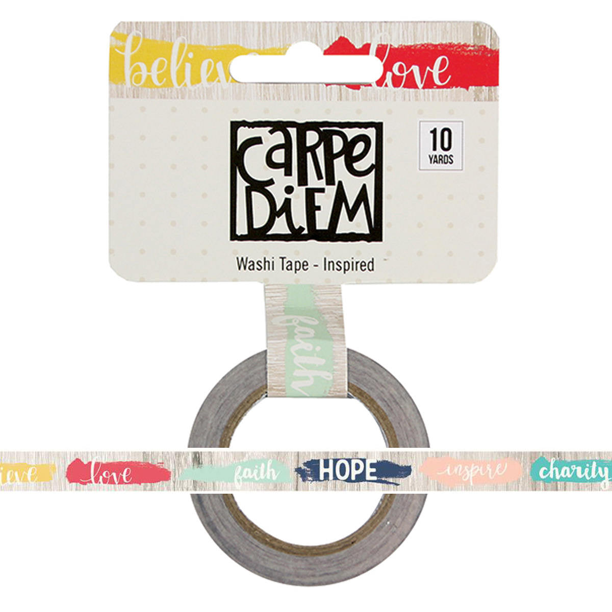 INSPIRED Faith Carpe Diem Washi Tape, 15mm x 10 yards