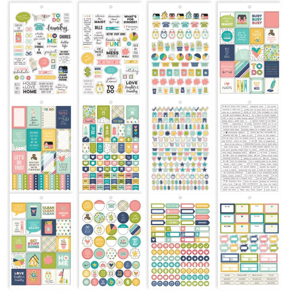 Domestic Bliss HOME Sticker Book, 725 planner stickers