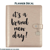 BRAND NEW DAY Carpe Diem Vinyl Planner Decal