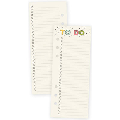 Carpe Diem Planner TO DO Checklist A5 Bookmark Tablet, 24 sheets