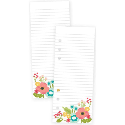 Carpe Diem Planner FLORAL Lined Paper A5 Bookmark Tablet, 24 sheets