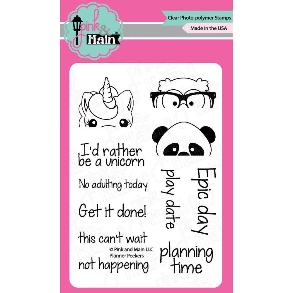 Pink & Main PLANNER PEEKERS Clear Stamp Set