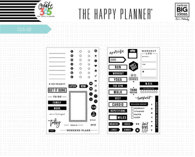TO DO MAMBI Happy Planner Clear Planner Stamps Set