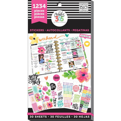 1,234 Today is the Day MAMBI Happy Planner Stickers Value Sticker Book