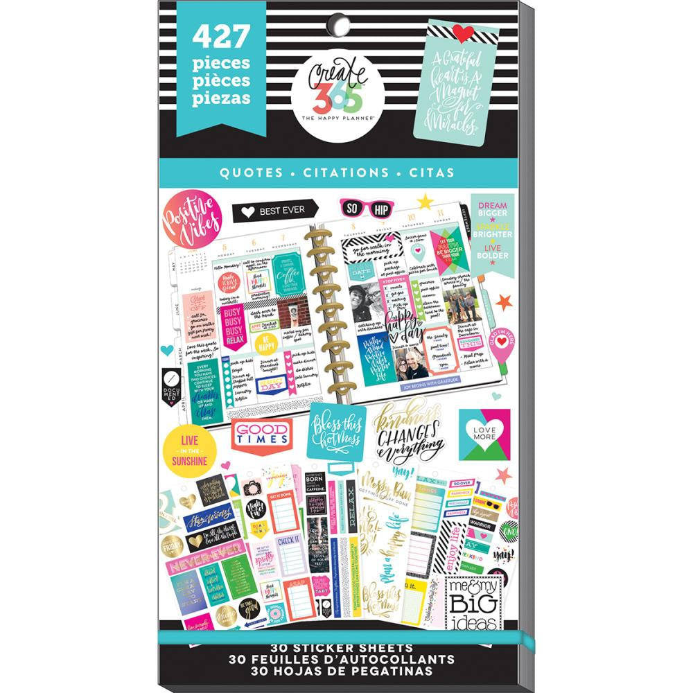 Gold Star Quotes Sticker Value Pack - MAMBI Happy Planner Stickers