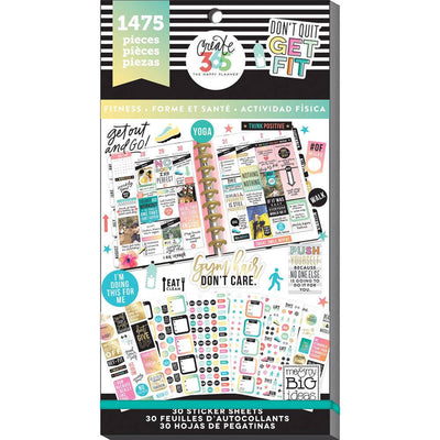 1,475 WORK it OUT MAMBI Happy Planner Stickers Value Sticker Book