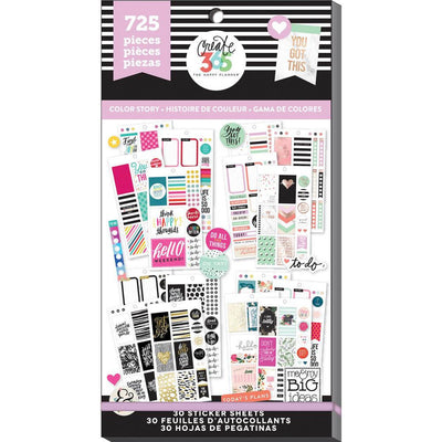725 Classic COLOR STORY MAMBI Happy Planner Stickers Value Sticker Book
