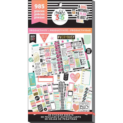 985 PRODUCTIVITY MAMBI Happy Planner Stickers Value Sticker Book