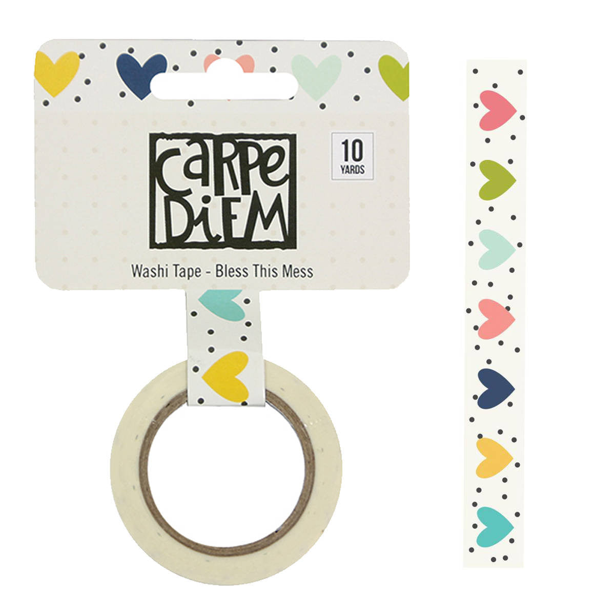 Domestic Bliss Home BLESS THIS MESS Carpe Diem Washi Tape, 15mm x 10 yards