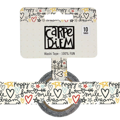 Say Cheese 100% FUN Carpe Diem Washi Tape, 15mm x 10 yards