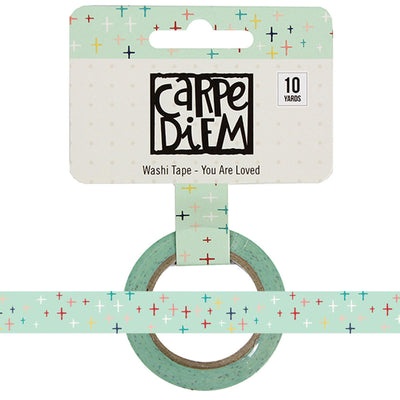 YOU ARE LOVED Cross Faith Carpe Diem Washi Tape, 15mm x 10 yards
