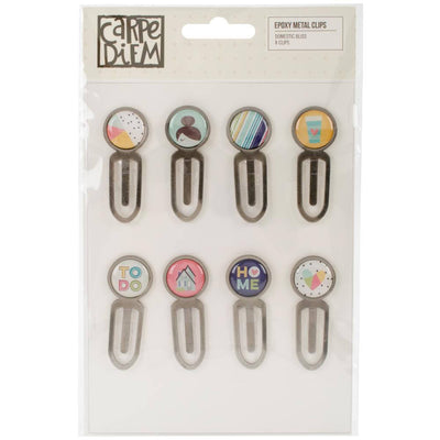Carpe Diem DOMESTIC BLISS Home Planner Epoxy Paper Clips (8 metal clips)