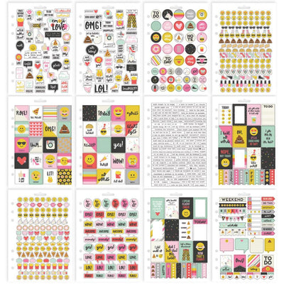 EMOJI LOVE Carpe Diem Planner Sticker Book, 803 planner stickers