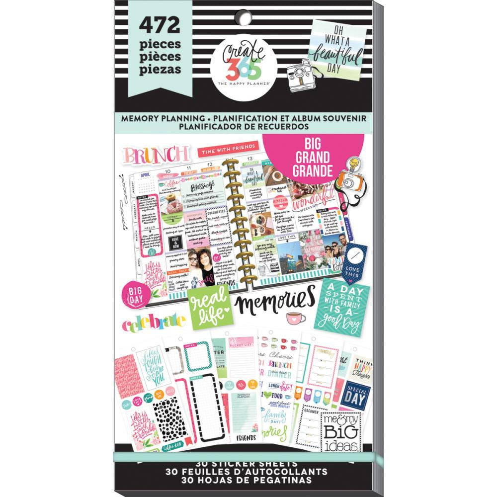 472 Memory Planning MAMBI Big Happy Planner Stickers Value Sticker Book