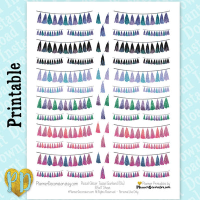 Tassel Garland Printable Planner Stickers