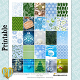 9pc December printable planner stickers monthly sticker kit