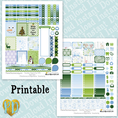 December printable planner stickers weekly sticker kit