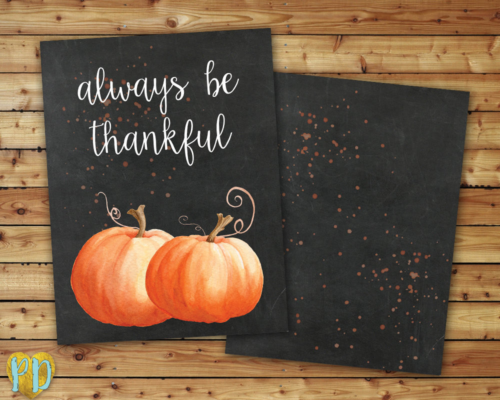 Always Be Thankful Thanksgiving DIY Printable Planner Cover