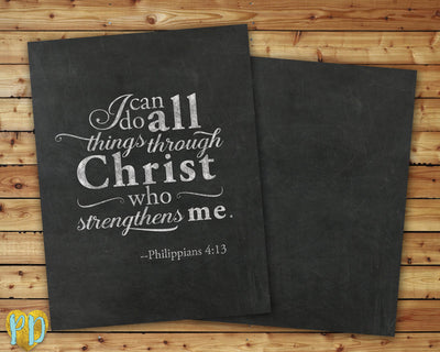 Philippians 4:13 Bible Verse DIY Printable Planner Cover, I Can Do All Things Through Christ