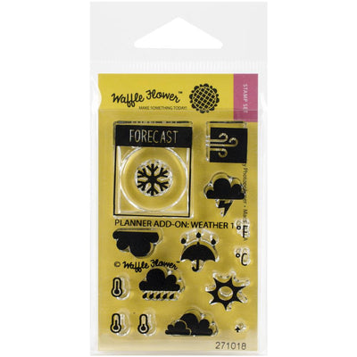 Waffle Flower WEATHER Clear Planner Stamps Set #1
