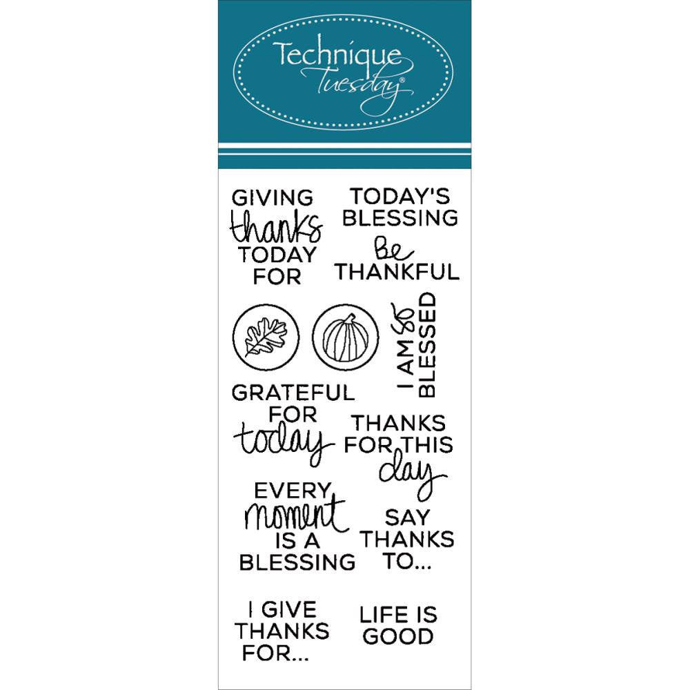 Thanks Clear Planner Stamps by Technique Tuesday