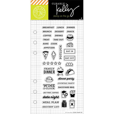 Food Meal Planner Clear Stamps by Kelly Purkey