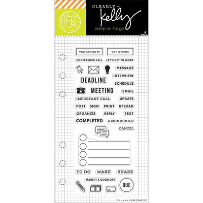 Work Planner Clear Stamps by Kelly Purkey