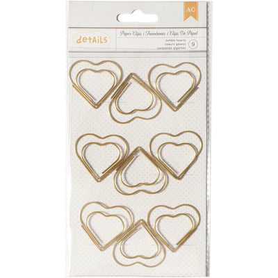 Jumbo Heart Gold Paper Clips by American Crafts