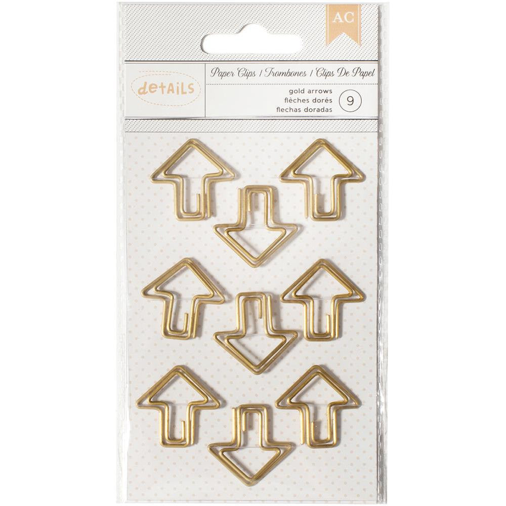 Arrow Gold Paper Clips by American Crafts
