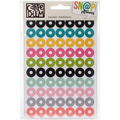 Carpe Diem Planner Hole Reinforcer Stickers, 560 Stickers, 8 sheets