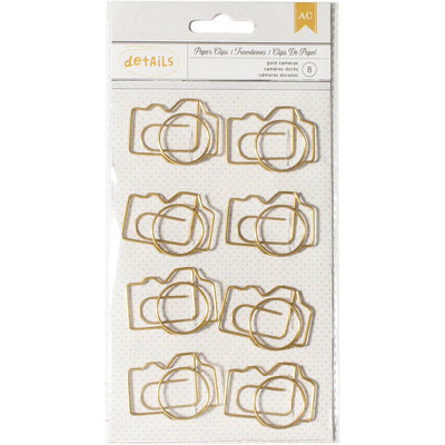 Jumbo Camera Gold Paper Clips by American Crafts